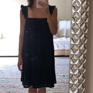 Sezane cotton eyelet dress